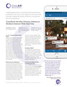 CivicAR Mobile Platform Factsheet